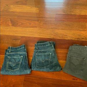 Boys Levi's 511 Skinny jeans 3 pair size 16 Reg
